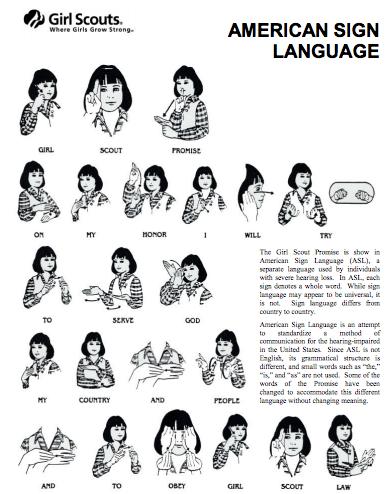 Sign Language promise