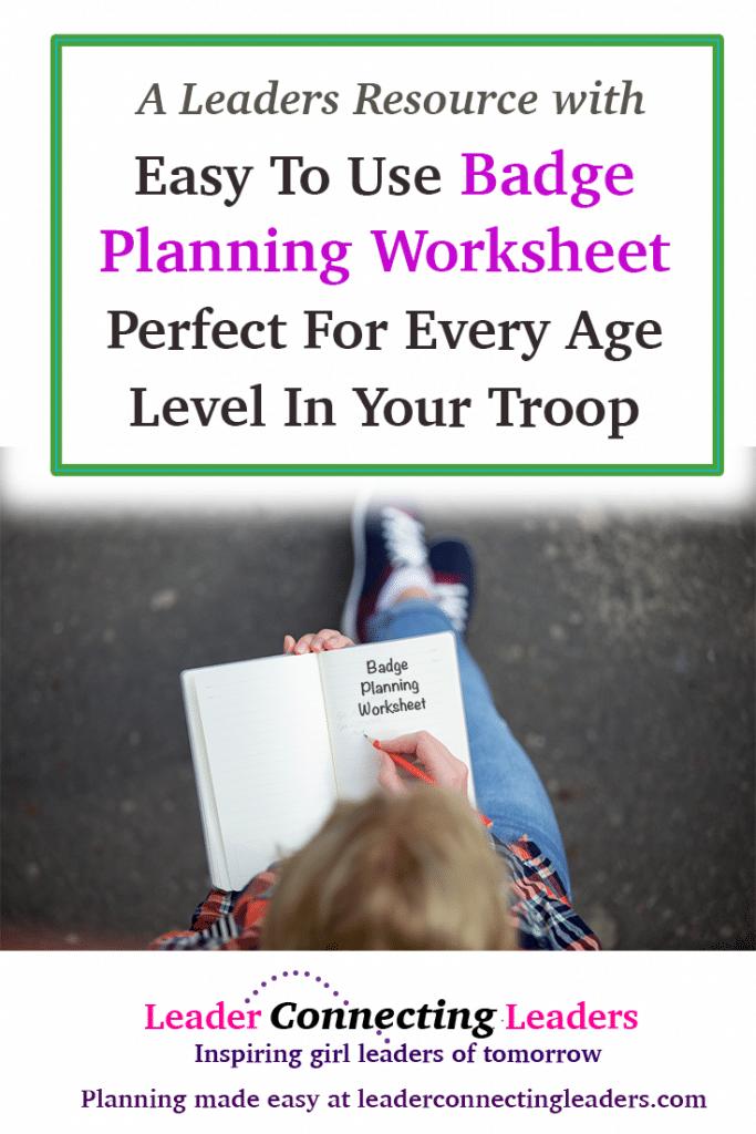 Troop Planning Worksheet Kidz Activities