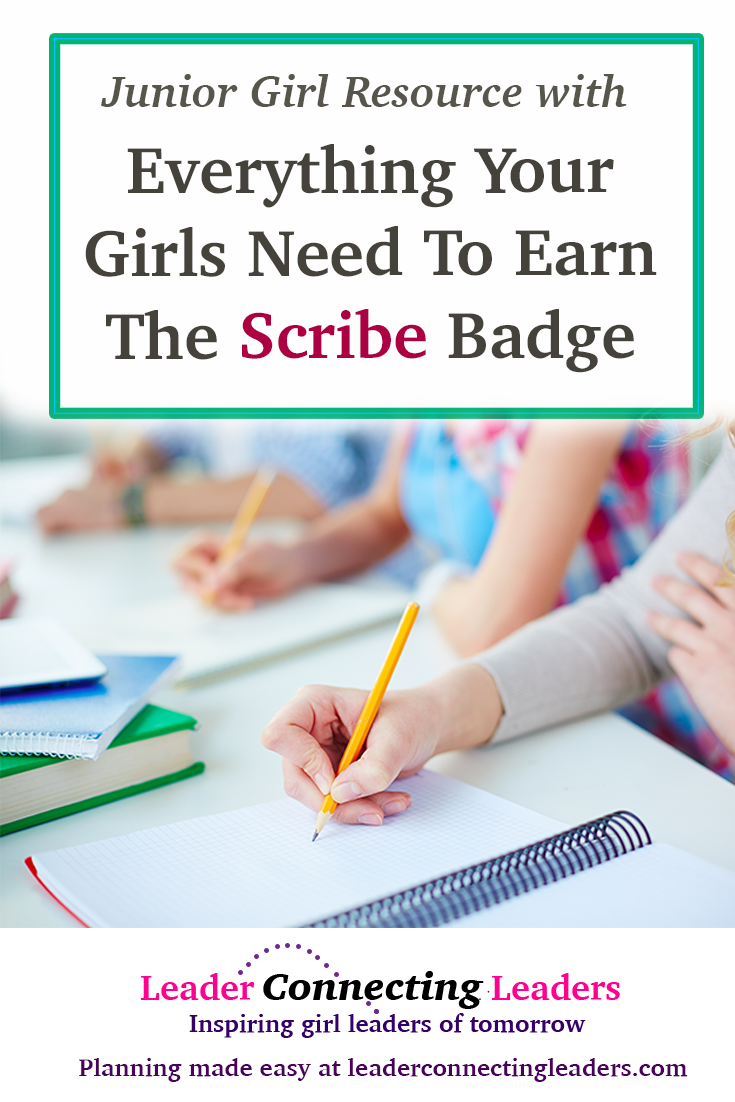Everything your girls need to earn the junior scribe badge leader everything your girls need to earn the junior scribe badge leader connecting leaders solutioingenieria Gallery