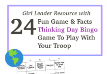 Girl Scout Thinking Day Bingo