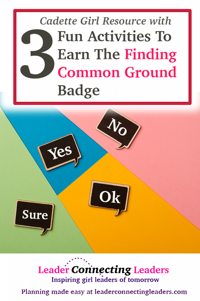 3 fun activities to earn the cadette finding common ground badge if your looking for ideas to make your meeting more fun while earning the cadette finding common ground badge you have come to the right place solutioingenieria Gallery