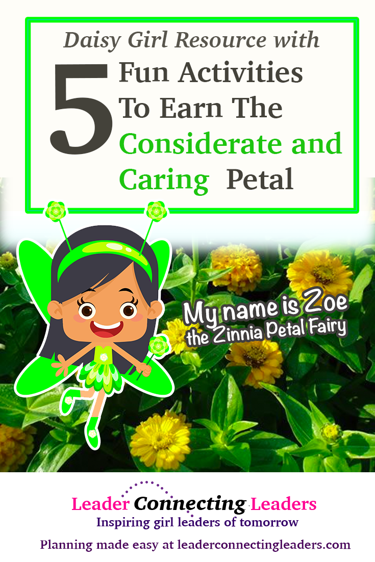 5 fun ways to help your daisies earn the considerate and caring as a daisy your girls will have the opportunity to earn 10 flower petals 4 leaves and the center of the flower each petal representing a different value izmirmasajfo
