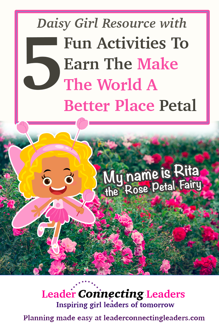 5 Great Ideas To Earn The Daisy Make The World A Better Place Petal