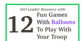 Girl Scout balloon games