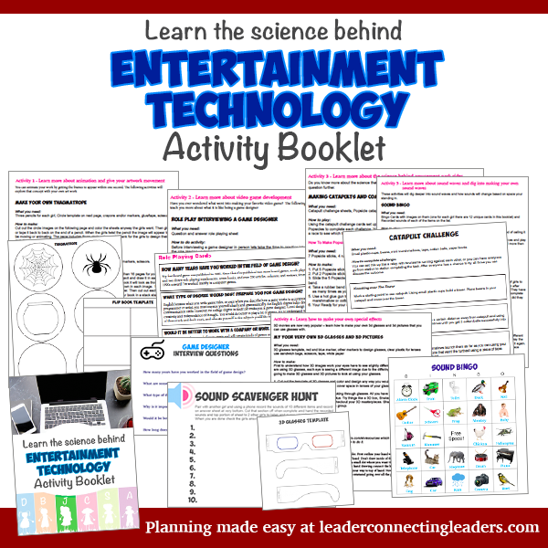6 fun activities to earn the junior entertainment technology badge do you want to skip all the planning if so use the entertainment technology activity booklet to fulfill the requirements for this junior badge solutioingenieria Gallery