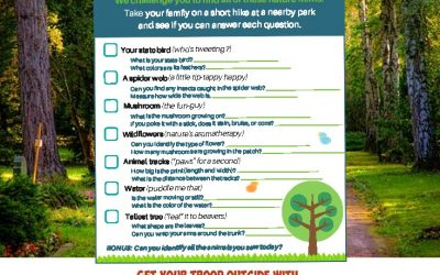 Fun Unplugged: Get your troop outside with this fun nature adventure hunt