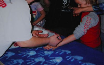 How to Make a Hand Print American Flag With Your Troop